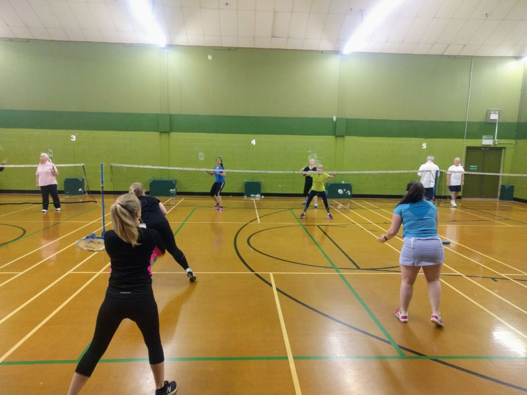 SBC Women's team training on court